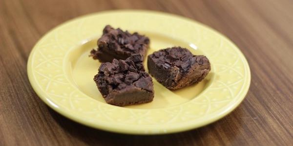 Brownie de feijão e chocolate